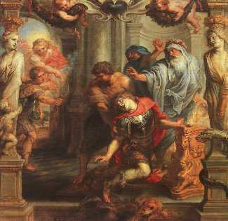 Death of Achilles, by Peter Paul Rubens