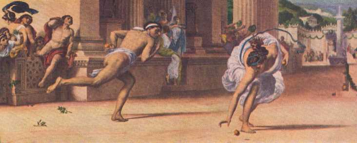 Atalanta and Hippomenes racing