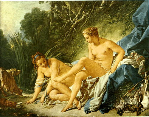 Bath of Diana, by Francois Boucher
