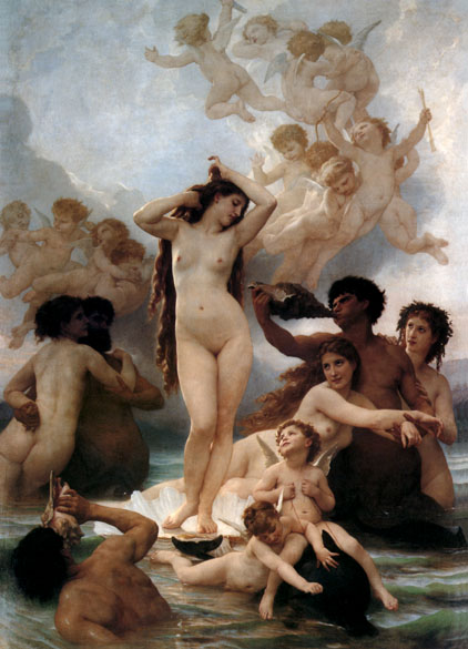Birth of Venus, by William Adolphe Bouguereau
