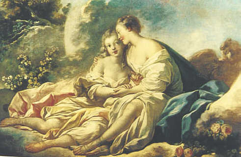 Jupiter and Callisto, by Jean-Honore Fragonard