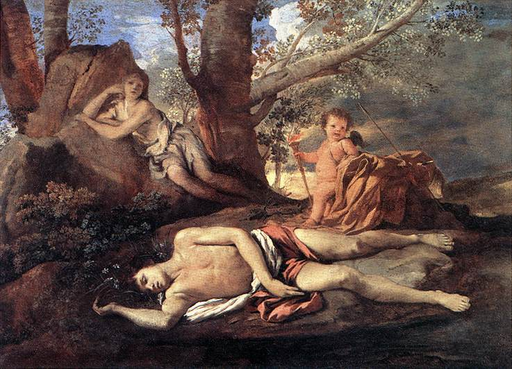 Echo and Narcissus, by Nicolas Poussin