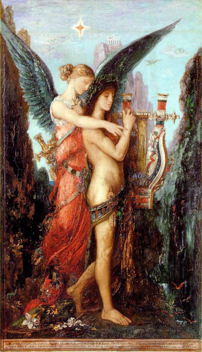 Hesiod and His Muse, by Gustav Moreau