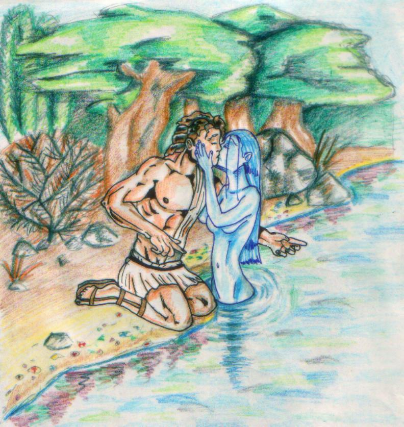 Hylas and Dryope, by Kirk
