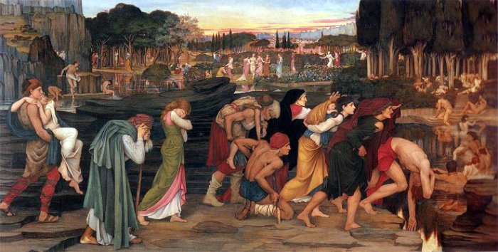 The Waters of the Lethe by the Plain of Elysium, by John Roddham Spencer-Stanhope