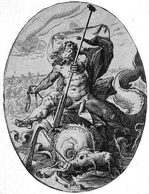 black and white image of Oceanus