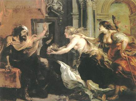 Tereus Confronted with the Head of His Son, by Peter Paul Rubens