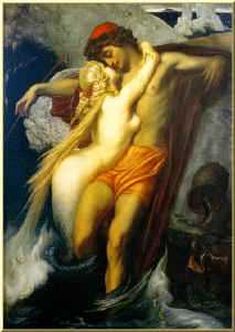 Siren and the Fisherman, by Leighton