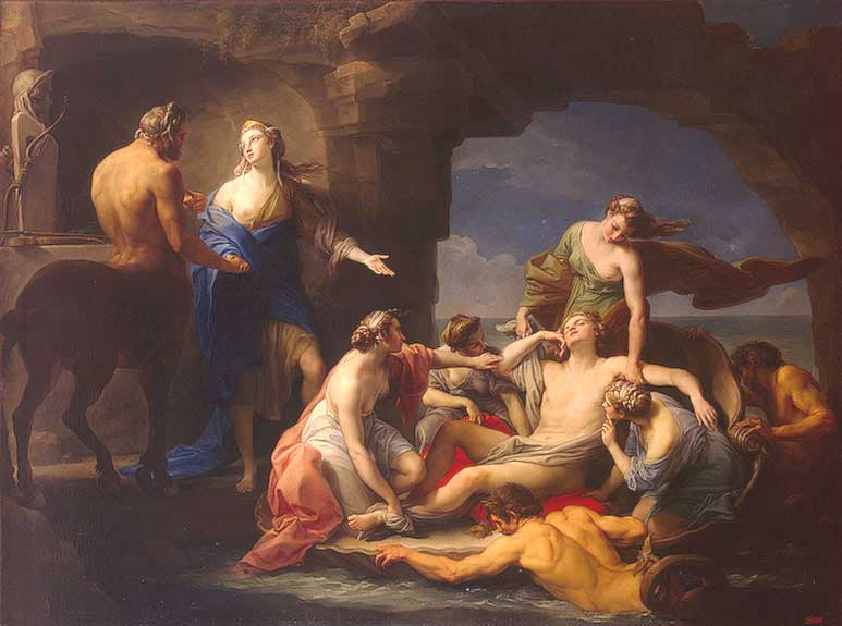 Thetis Takes Achilles from the Centaur Chiron, by Pompeo Batoni