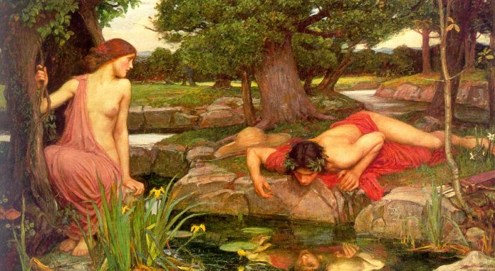 Echo and Narcissus, by John William Waterhouse